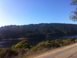Taking a break at Sawyer Camp Trail